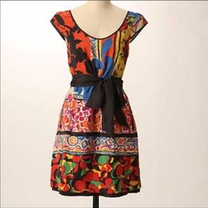 Anthropologie Moulinette Soeurs Mixed Print Dress